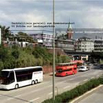 korrigierte EUROLAND-ansicht von der fussgängerbrücke am bahnhof landungsbrücken