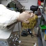 im atelier am 28.10.11 (vorbereitungen für rum traube nuss)