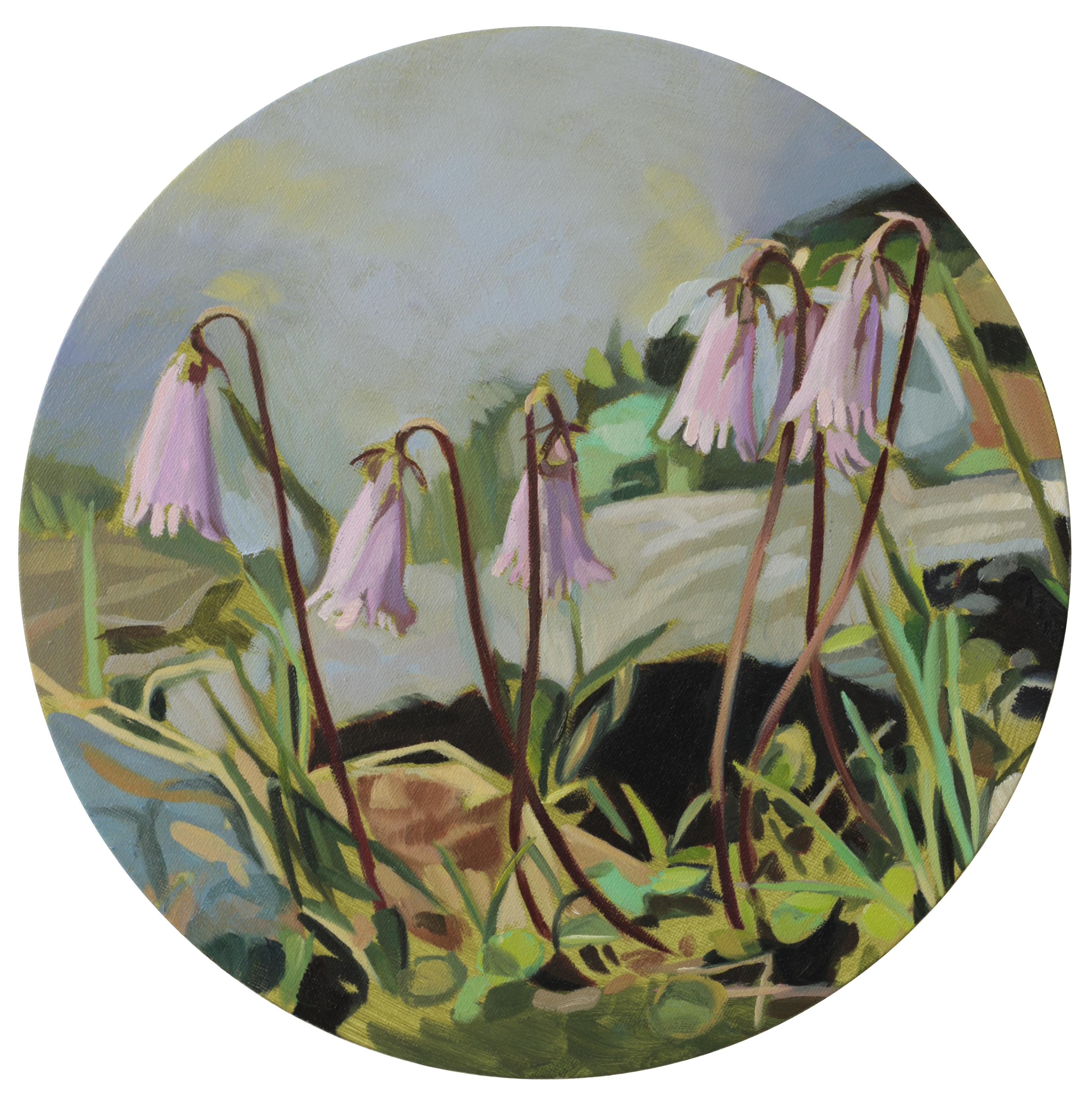 Bergblumen, 2017, 30 cm, Öl auf Leinwand