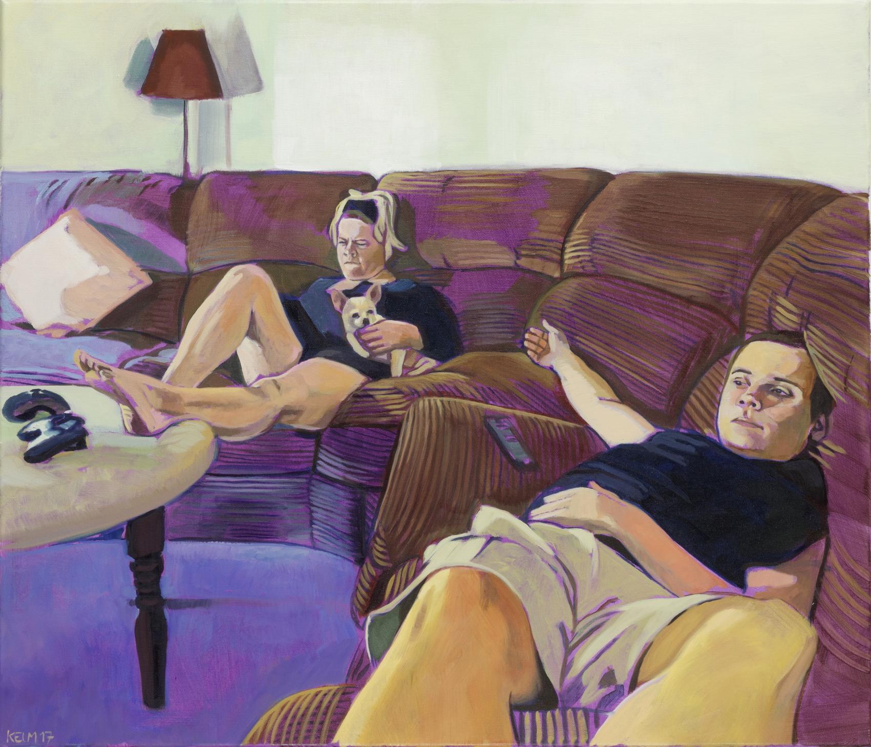 Garth 2, 2017, Öl auf Leinwand, 60 x 70