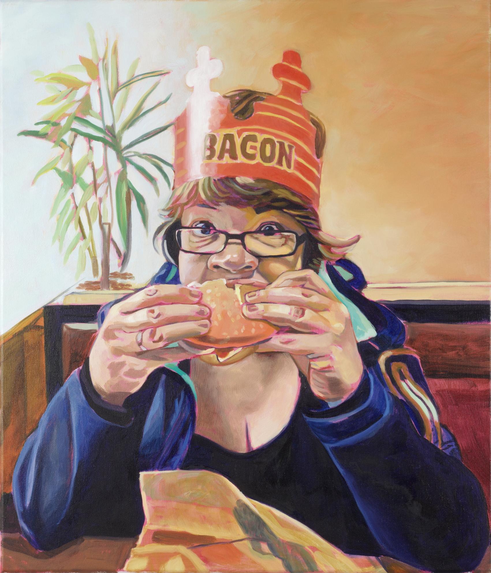 Bacon, 2017, Öl auf Leinwand, 60 x 70 cm