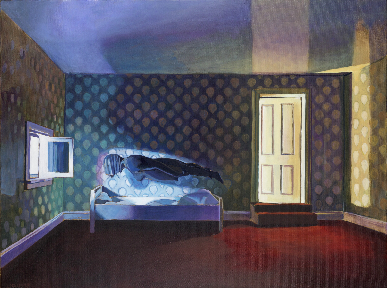 Nachts, 2017, Öl auf Leinwand, 90 x 120 cm