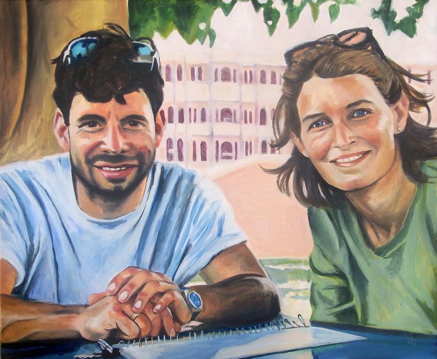 """""""Markus und Julia"""", 2011 von henrieke ribbe. öl auf leinwand, 80 x 65cm"""
