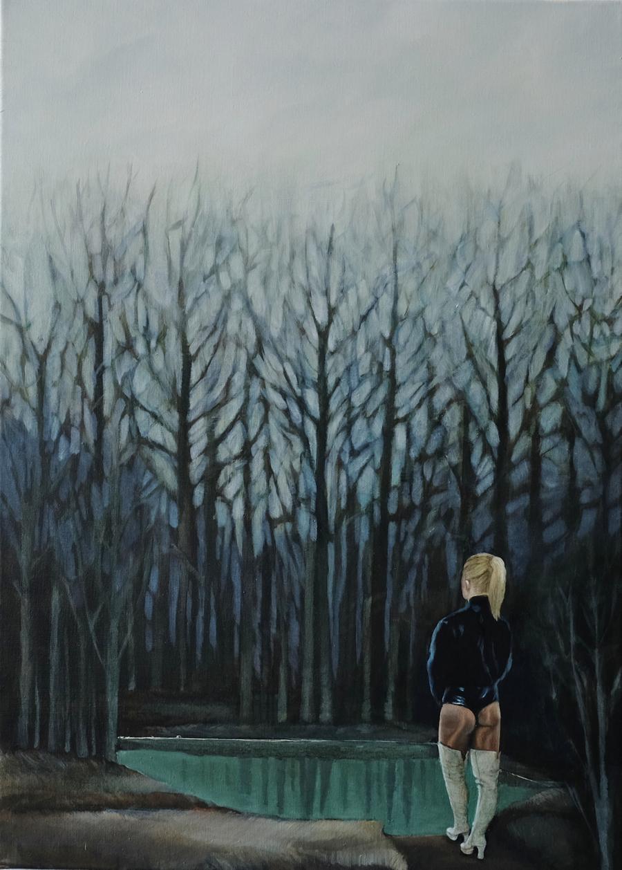 aus: Prostituierte 1-10, 2014, öl auf leinwand, 50 x 70 cm