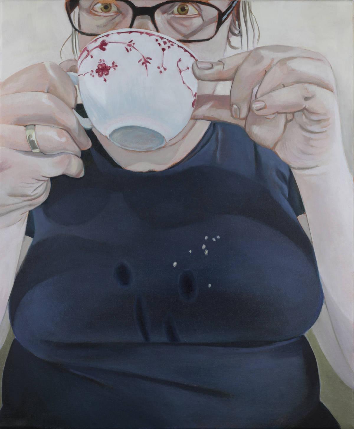 tee, 2015, öl auf leinwand, 50 x 60 cm