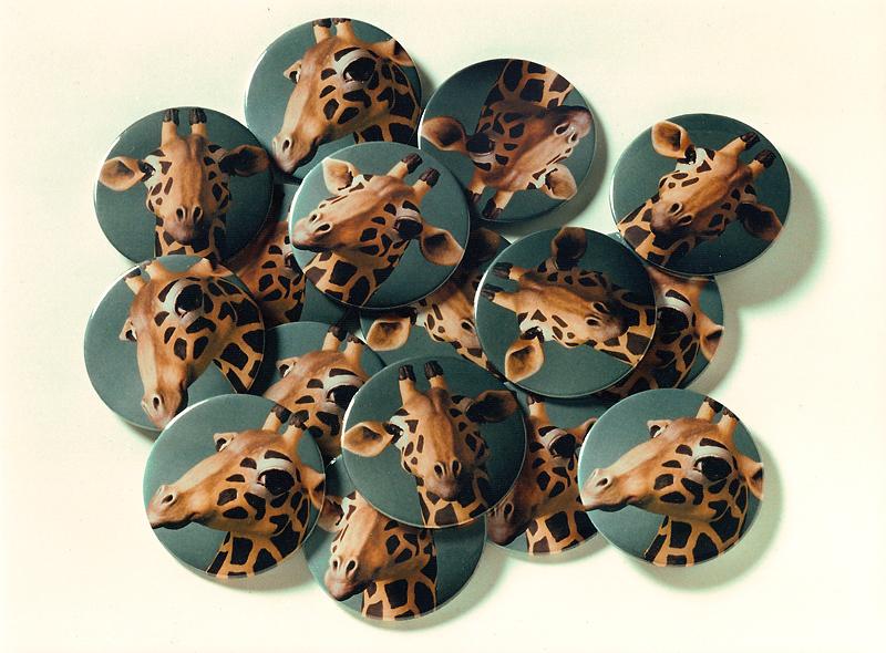 Buttons aus o.T. (Giraffe), 1996