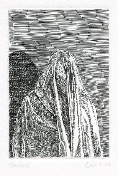 Mein totschickes Nervenkostüm I-VI, 2011. Ätzradierung. Auflage: 20