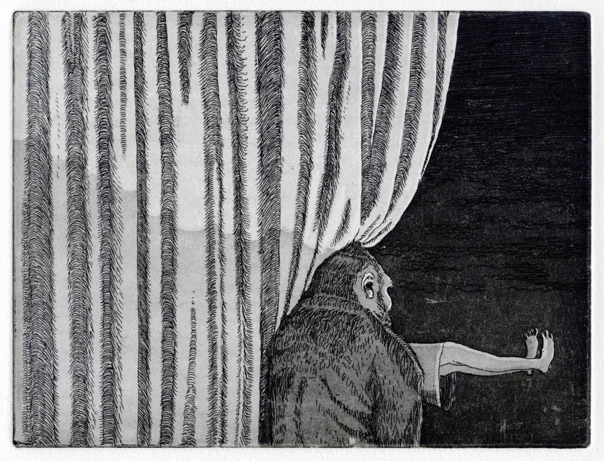 Radierung (Aquatinta), Auflage: 20, Katia Kelm, 2012