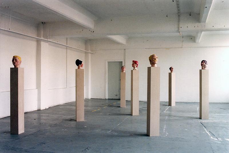 O.T (Köpfe), Ausstellungsansicht Künstlerhaus Wendenstrasse, 1996