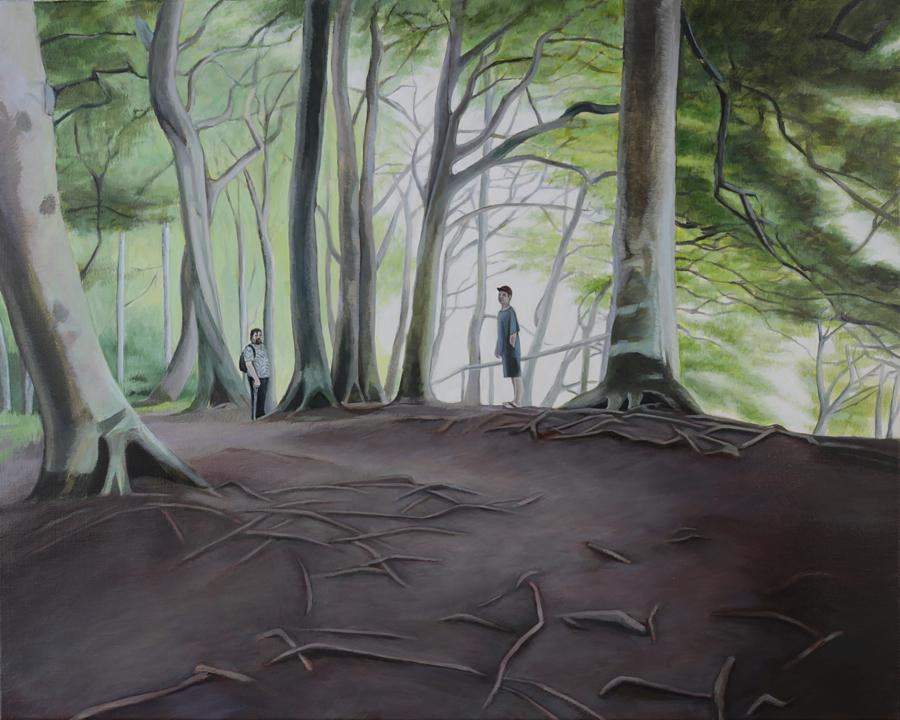 spazieren, 2015, öl auf leinwand, 100 x 80 cm