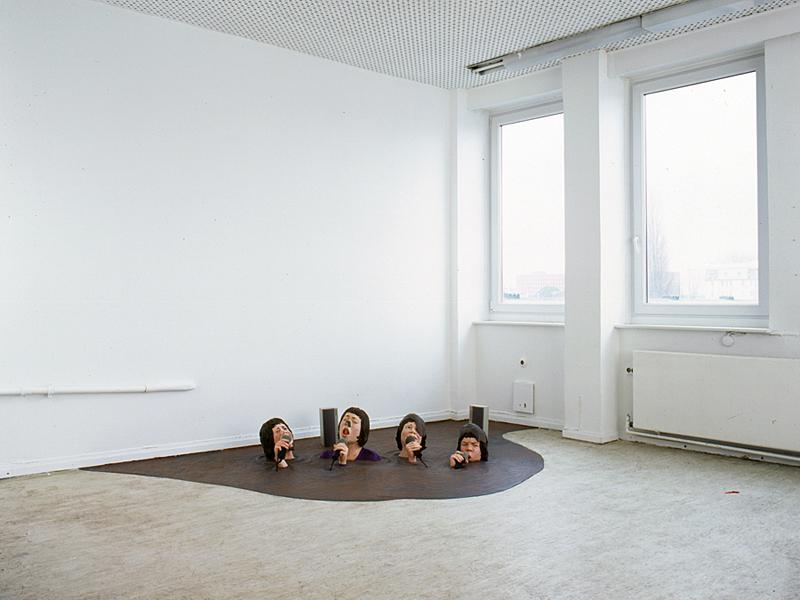 Serenade (Version I), 2000. Aufbau im Atelier