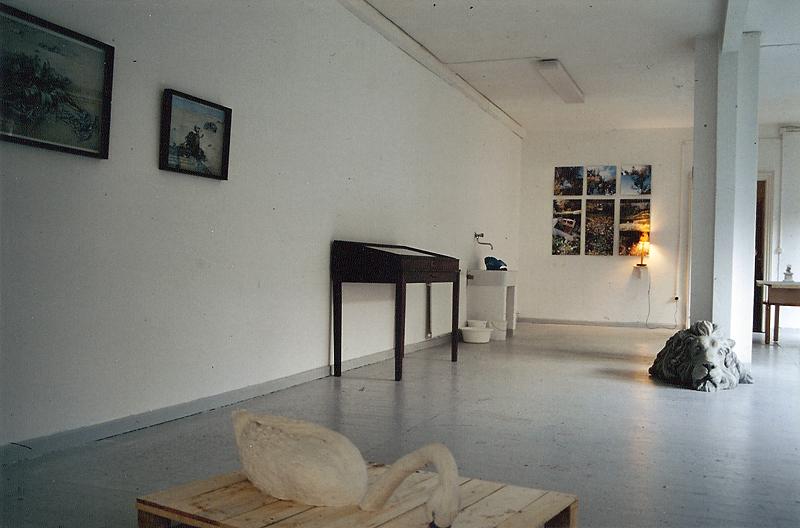 """Ausstellungsansicht """"Die Gute, Die Schöne Und Die Hässliche"""", Villa Minimo, Hannover, 1998"""