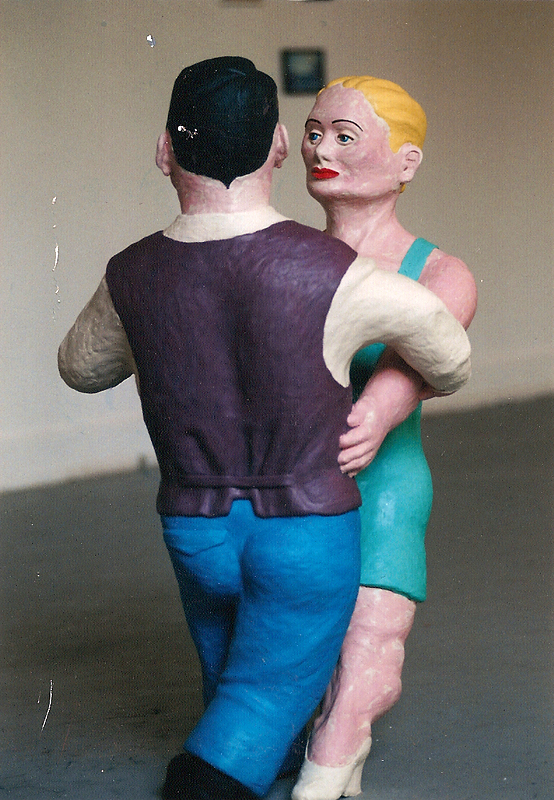 Tänzer, 1994, Aufbau Jahresausstellung HfbK Hamburg, KP Brehmer Klasse